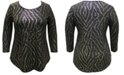 JM Collection Plus Size Printed 3/4-Sleeve Top, Created for Macy's