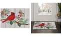 "Martha Stewart Collection Cardinal 20"" x 30"" Hooked Rug, Created for Macy's"