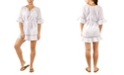 Miken Juniors' Belted Crochet-Trim Cover-Up, Created for Macy's