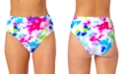 California Waves Tie-Dyed High-Waist Bikini Bottoms, Created for Macy's