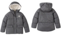 Calvin Klein Big Girls Faux Fur Lined Puffer Jacket