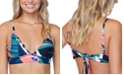 Raisins Juniors' Crystal Cove Printed Tie-Back Bikini Top