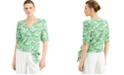 INC International Concepts INC Plus Size Printed Surplice Top, Created for Macy's