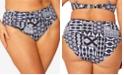 Bleu by Rod Beattie Mixed Print Plus Size Bikini Bottoms