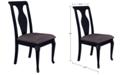 Furniture Branchville Black Urn Back Side Chair