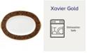 """Noritake """"Xavier Gold"""" Oval Platter, 14"""""""