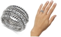 INC International Concepts INC Textured Pavé Statement Ring, Created for Macy's
