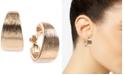 Anne Klein Gold-Tone Textured E-Z Comfort Clip-On Hoop Earrings