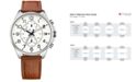 Tommy Hilfiger Men's Chronograph Casual Sport Brown Leather Strap Watch 46mm 1791274