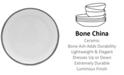 Mikasa Blakeslee Platinum Dinner Plate