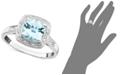 Macy's 10k White Gold Ring, Aquamarine (1-1/3 ct. t.w.) and Diamond Accent Ring