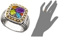EFFY Collection Balissima by EFFY® Multistone Square Ring (1-1/2 ct. t.w.) in 18k Gold and Sterling Silver
