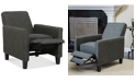 Noble House Almonte Fabric Recliner Club Chair