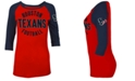 5th & Ocean Women's Houston Texans Rayon Raglan T-Shirt