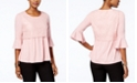 NY Collection Petite Lace Popover Top