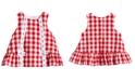 Marmellata Red & White Gingham Cotton Dress, Baby Girls