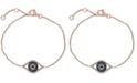 EFFY Collection Gift by EFFY® Diamond Evil Eye Bracelet (1/3 ct. t.w.) in 14k Rose Gold