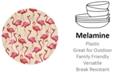 Portmeirion Sara Miller Flamingo Melamine 11'' Dinner Plates, Set of 4