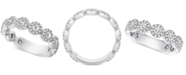 Macy's Diamond Halo Band (1 ct. t.w.) in 14k White Gold