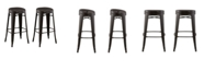 Acessentials Contoured Seat, Round Backless Barstool