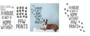 Brewster Home Fashions Home With Paw Prints Wall Quote