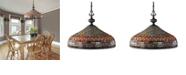 ELK Lighting Jewelstone 3-Light Chandelier in Classic Bronze