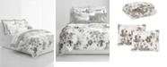 Lauren Ralph Lauren Flora Grey 3-Pc. Cotton Full/Queen Duvet Cover Set