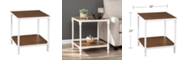Southern Enterprises Westmoor Industrial Square End Table with Storage Shelf