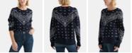 Lucky Brand Cotton Bandana-Print Sweater