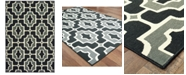 "Oriental Weavers Marina 1491Z Black/Gray 6'7"" x 9'6"" Indoor/Outdoor Area Rug"