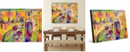 """Creative Gallery Rendez Vous Colorful Wine Abstract 20"""" x 24"""" Acrylic Wall Art Print"""