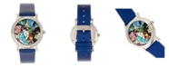 Bertha Quartz Vanessa Blue Genuine Leather Watch, 36mm