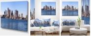 "Design Art Designart Boston Skyline Panorama Cityscape Photo Canvas Art Print - 40"" X 30"""