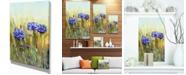 "Design Art Designart Cornflowers In Full Bloom Floral Art Canvas Print - 12"" X 20"""
