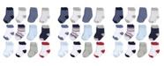 Hudson Baby Basic Crew Socks, 12-Pack, 0-24 Months