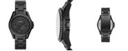 Fossil Women's Riley Black Stainless Steel Bracelet Watch 38mm