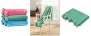 Vera Wang Azalea Skye Salma Pom Pom Parrot Green Ultra Soft Plush Throw