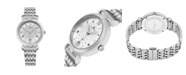 Stuhrling Alexander Watch A202B-01, Ladies Quartz Small-Second Date Watch with Stainless Steel Case on Stainless Steel Bracelet