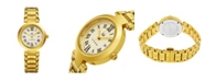 Stuhrling Alexander Watch A203B-03, Ladies Quartz Date Watch with Yellow Gold Tone Stainless Steel Case on Yellow Gold Tone Stainless Steel Bracelet