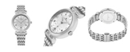 Stuhrling Alexander Watch AD202B-01, Ladies Quartz Small-Second Date Watch with Stainless Steel Case on Stainless Steel Bracelet