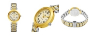Stuhrling Alexander Watch AD203B-02, Ladies Quartz Date Watch with Yellow Gold Tone Stainless Steel Case on Yellow Gold Tone Stainless Steel Bracelet