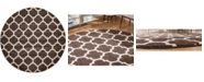 Bridgeport Home Arbor Arb1 Brown 8' x 8' Round Area Rug