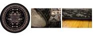 Bridgeport Home Charvi Chr1 Black 8' x 8' Round Area Rug