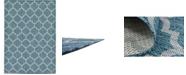 Bridgeport Home Pashio Pas5 Teal 7' x 10' Area Rug