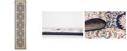 Bridgeport Home Zara Zar8 Navy Blue 3' x 13' Runner Area Rug