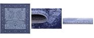 Bridgeport Home Aldrose Ald4 Blue 6' x 6' Square Area Rug