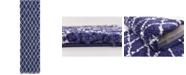 """Bridgeport Home Fazil Shag Faz3 Navy Blue 2' 7"""" x 10' Runner Area Rug"""