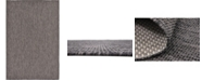 Bridgeport Home Pashio Pas6 Black 6' x 9' Area Rug