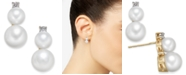 Macy's Cultured Freshwater Pearl (5mm & 7mm) & Diamond Accent Stud Earrings in 14k Gold