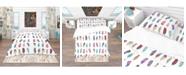 Design Art Designart 'Colored Feathers Set' Southwestern Duvet Cover Set - Twin